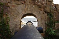 Canhão do porto Imagens de Stock Royalty Free