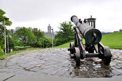 Canhão do português do monte de Calton Foto de Stock