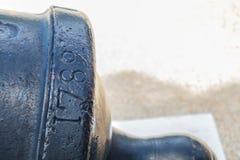 Canhão 1789 do século XVII do canhão Imagem de Stock
