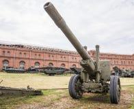canhão dos obus 152-milímetro, modificação 1910/1934 Fotos de Stock Royalty Free