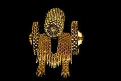 canhão dourado do origâmi 3D Fotografia de Stock Royalty Free
