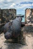 Canhão e navio Foto de Stock Royalty Free