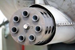 Canhão giratório do Avenger GAU-8 Fotografia de Stock Royalty Free
