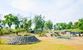 Canhão grande da barreira nas forças armadas Foto de Stock Royalty Free