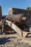 Canhão histórico, del Sacramento de Colonia, Uruguai Hist de viagem Imagem de Stock