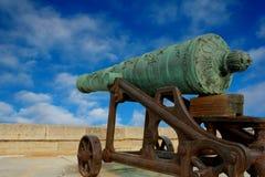 Canhão histórico em posição Fotografia de Stock Royalty Free