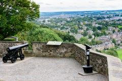 Canhão histórico em Stirling Castle, Escócia Fotos de Stock Royalty Free