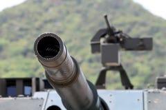 Canhão militar japonês do tanque Fotografia de Stock