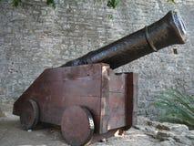 Canhão na cidade velha Budva Fotografia de Stock