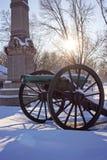 Canhão nevado em Grant Park imagens de stock