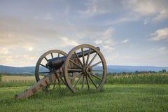 Canhão no campo de batalha de Antietam (Sharpsburg) em Maryland fotografia de stock
