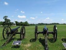 Canhão no campo de batalha nacional da guerra civil de Antietam fotos de stock