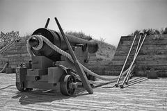 Canhão no forte McHenry Imagem de Stock