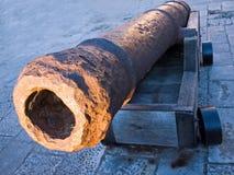 Canhão oxidado fotografia de stock