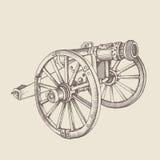 Canhão retro do estilo antigo ilustração stock