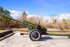 Canhão soviético velho Fotos de Stock Royalty Free