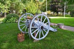Canhão velho da guerra civil Fotos de Stock Royalty Free