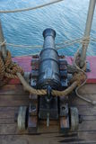 Canhão velho do navio Foto de Stock