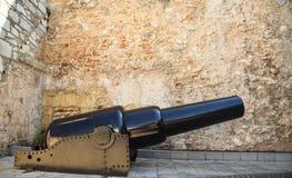 Canhão velho em Gibraltar Fotografia de Stock Royalty Free