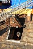 Canhão velho em um navio de navigação Foto de Stock Royalty Free