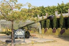 Canhão verde velho Fotografia de Stock Royalty Free