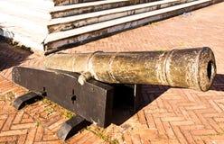 Canhões antigos. imagem de stock royalty free