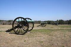 Canhões do campo de batalha Fotografia de Stock Royalty Free