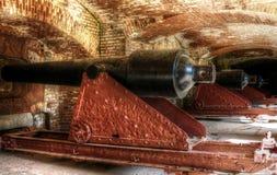 Canhões do forte Sumter Fotografia de Stock Royalty Free