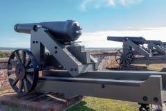 Canhões do Ft Macom Foto de Stock
