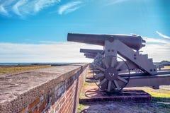 Canhões do Ft Macom Foto de Stock Royalty Free