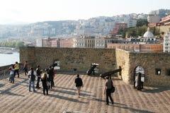Canhões em Nápoles fotografia de stock royalty free