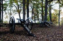 Canhões históricos da guerra civil de Gettysburg fotografia de stock royalty free