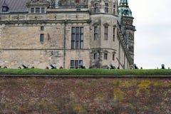 Canhões no palácio do ` s de Hamlet fotos de stock royalty free
