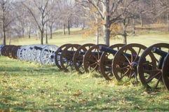 Canhões no parque nacional da guerra revolucionária Imagens de Stock