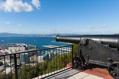 Canhão em Gibraltar Fotos de Stock
