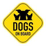 Cani a bordo del segno immagini stock libere da diritti