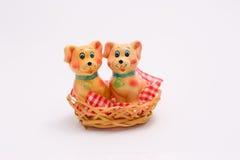 Cani da ceramica Fotografie Stock