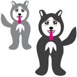 Cani del husky su fondo bianco illustrazione vettoriale