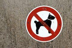 Cani dello schermo severi! Cani del segno di proibizione Fotografia Stock