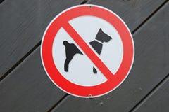 Cani proibiti! Fotografie Stock Libere da Diritti