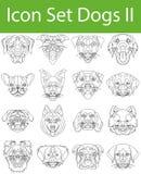 Cani stabiliti dell'icona II illustrazione di stock