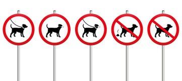 Cani sul segno obbligatorio della sporcizia della museruola dei cavi Immagine Stock Libera da Diritti