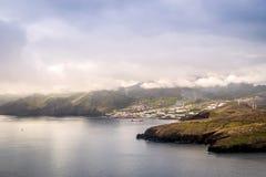 Canical,从Ponta de圣洛伦索,马德拉岛的看法 免版税库存照片