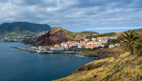 Canical town bay panoramic view, Madeira island. Stock Photography