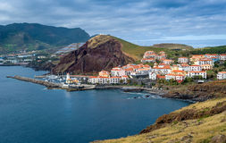 Canical town view. East coast of Madeira. Royalty Free Stock Image