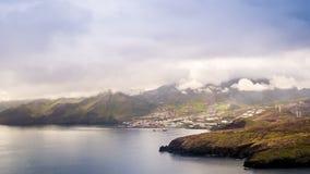 Canical, view from Ponta de Sao Lourenco, Madeira stock footage