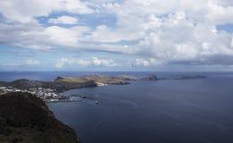 Canicalschiereiland bij het eiland van Madera Royalty-vrije Stock Foto