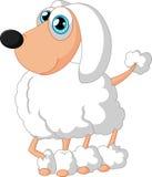 Caniche bonito do cão dos desenhos animados Imagens de Stock Royalty Free