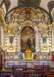 Canico教区教堂的内部  免版税库存图片