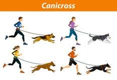 Canicross Plenerowy szkolenie z psami royalty ilustracja